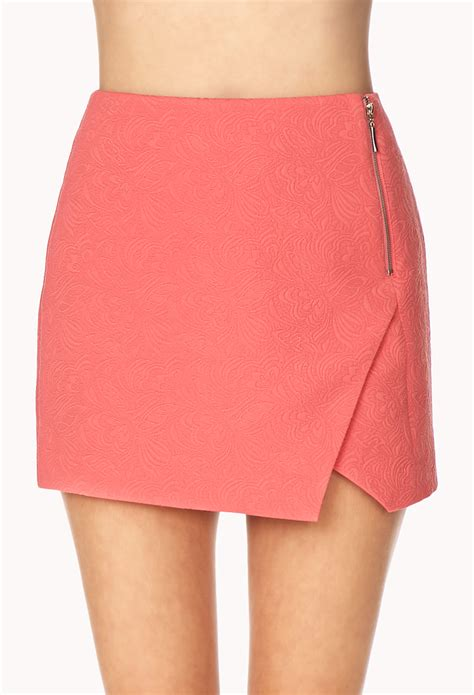 Origami Mini Skirt - forever 21 fancy origami skirt in pink gum lyst
