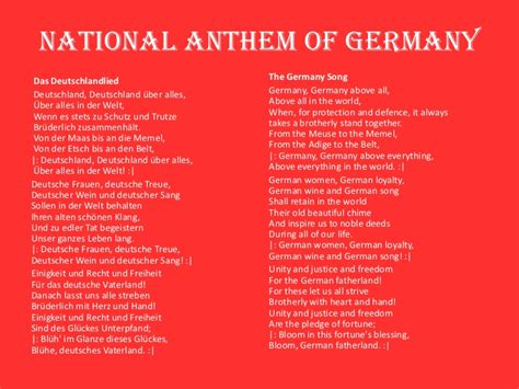 National Anthem Germany | germany powerpoint