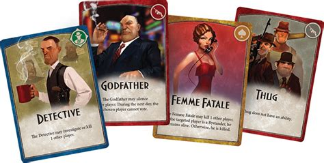 layout card game mafia vendetta party card game coming from fantasy flight