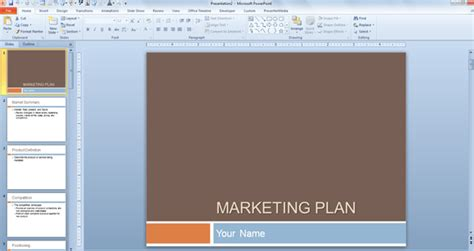 Free Marketing Plan Template For Powerpoint Presentations Marketing Strategy Powerpoint Template
