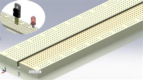 linear pattern solidworks youtube solidworks p tutorial 77 breadboard linear pattern