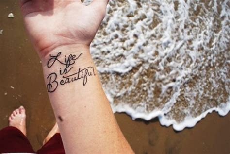 life is beautiful tattoo 13 beautiful wrist tattoos