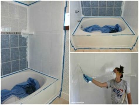 can you paint over ceramic tile in bathroom how to refinish outdated tile yes i painted my shower