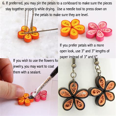 How To Make Earrings From Paper - make your own paper quilled earrings honey s quilling