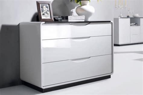 presta 3 drawer high gloss chest of drawers
