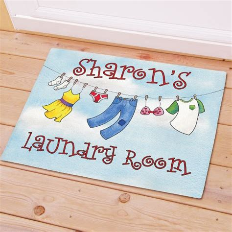 personalized laundry room rugs laundry room doormat personalized laundry room doormat