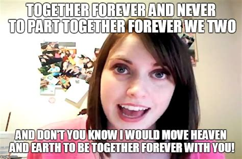 Moving In Together Meme - overly attached girlfriend laina morris pink shirt imgflip