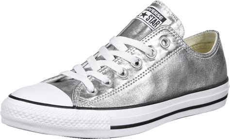 silver converse sneakers converse all ox shoes silver