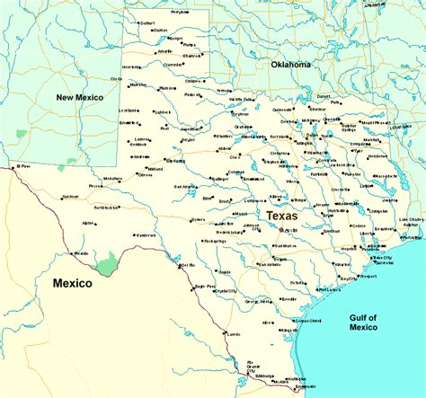map of the state of texas with cities texas map