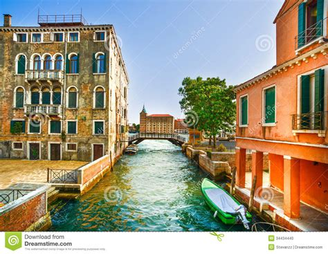 imagenes de pinturas urbanas paisaje urbano de venecia barcos canal del agua puente
