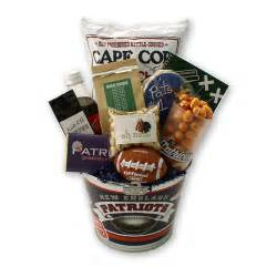 gifts for patriots fans go patriots football gift basket boston gift baskets