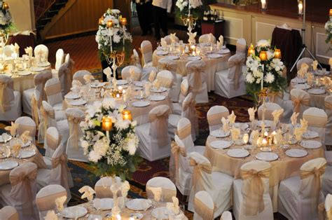 and white table decorations for a wedding chair covers chair cover rental wedding decorations