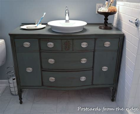 furniture turned into bathroom vanity bathroom inspiration open shelf vanity postcards from