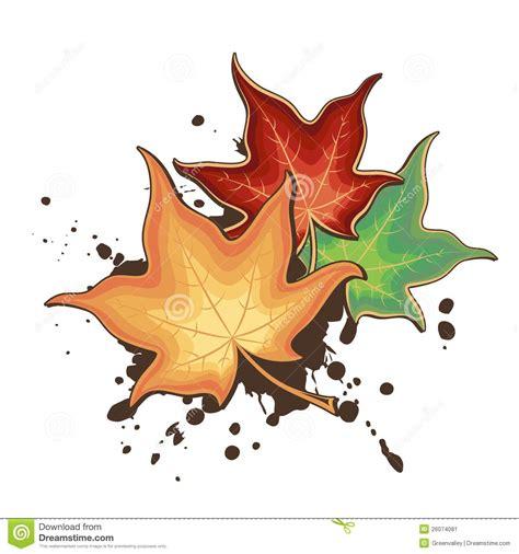 clipart autunno foglie di acero di autunno illustrazione vettoriale