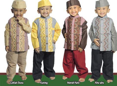 Busana Muslim Anak Laki Laki 21 Koleksi Model Baju Muslim Lebaran Kombinasi Batik 2017