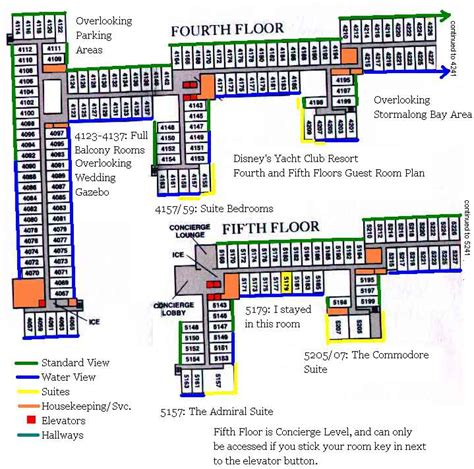 Disneys Yacht Club Hotel Floor Plan - yacht club club level rooms accommodations