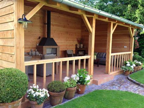 veranda zwart hout mooi idee kleine tuin met veranda zoeken