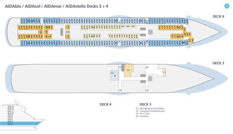 aidaprima kabinenplan deckspl 228 ne decksgrundrisse aidasol ansehen aida