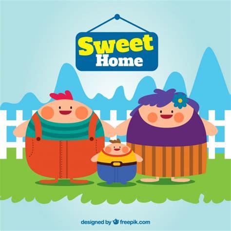 sweet home illustration vector