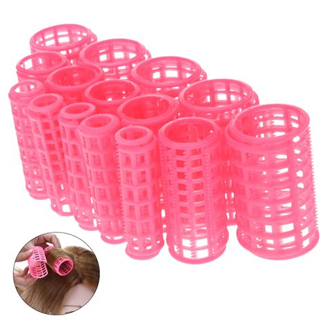 how to use plastic hair rollers on short hair 15pcs set plastic hair curler roller large grip styling