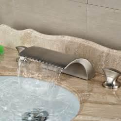 waterfall bathroom sink faucet brushed nickel wholesale and retail brand new luxury brushed nickel