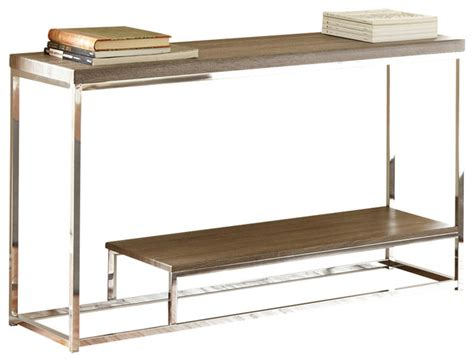 modern sofa table archis sofa table gray and brown contemporary console