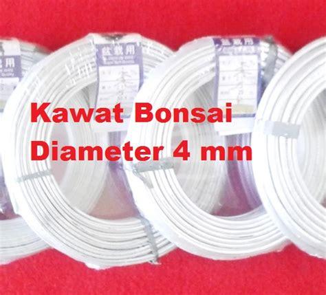 Kawat Bonsai 1 5mm kawat bonsai putih 4mm 1 roll 29 meter bibitbunga