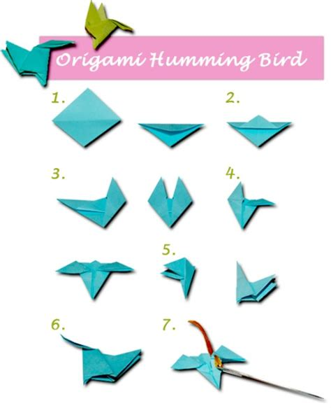 Origami Hummingbird Diagrams - origami hummingbird necklace craft ideas
