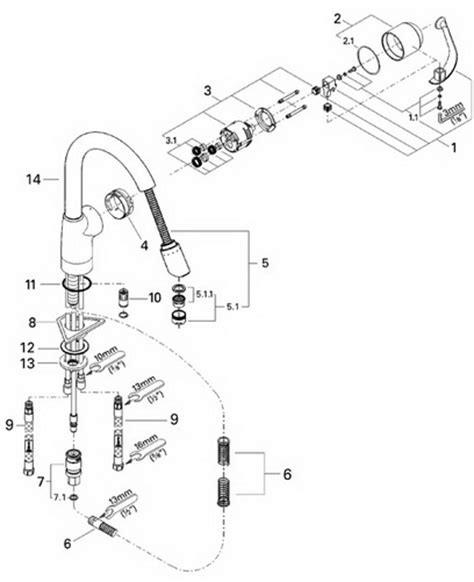 Grohe Faucets Parts Diagram by Grohe 33757 Ladylux Caf 233 Parts Catalog