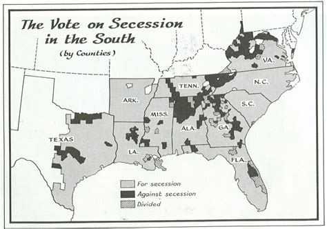 The War Of Secession electiondissection civil war secession maps