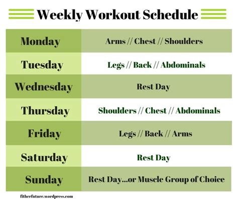 best 25 workout schedule ideas on weekly