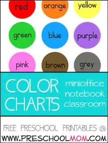 toddler color chart colors preschool printables aba