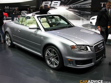 audi rs4 convertible audi rs4 cabriolet technical details history photos on