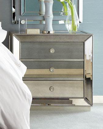 omni mirrored 3 drawer chest 803 omni mirrored nightstand