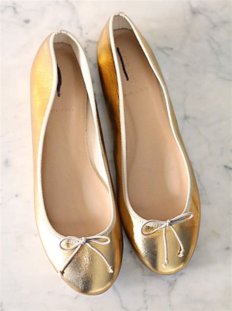 gold shoes flats gold shoe giveaway jess lively