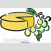 cheese and grapes Vector Clip art