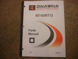 Ditch Witch Rt10 Rt12 10 12 Parts Manual Ebay