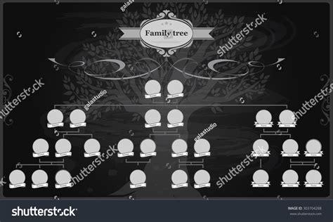 Genealogical Tree Your Family Hand Drawn Oak Stock Vector 303704288 Shutterstock Vintage Genealogical Family Tree Sketch Vector Illustration Stock Vector