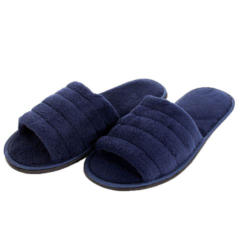 slip on slippers for mens slippers open toe house shoe slip on scuff bath soft