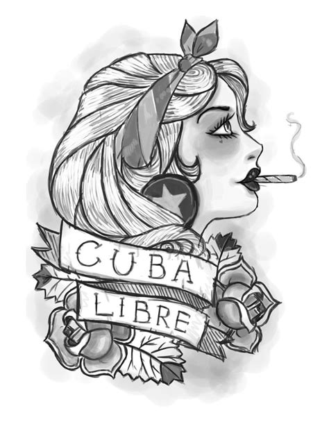 cuban tattoo designs cuba libre by cassiaramone on deviantart