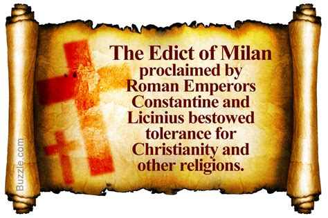 Of The by A Brief Summary And Significance Of The Edict Of Milan