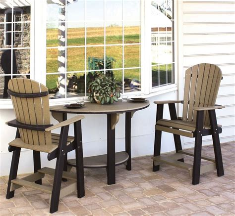 Polywood Benches Outdoor Amish Poly Patio Bar Set From Dutchcrafters Amish Furniture