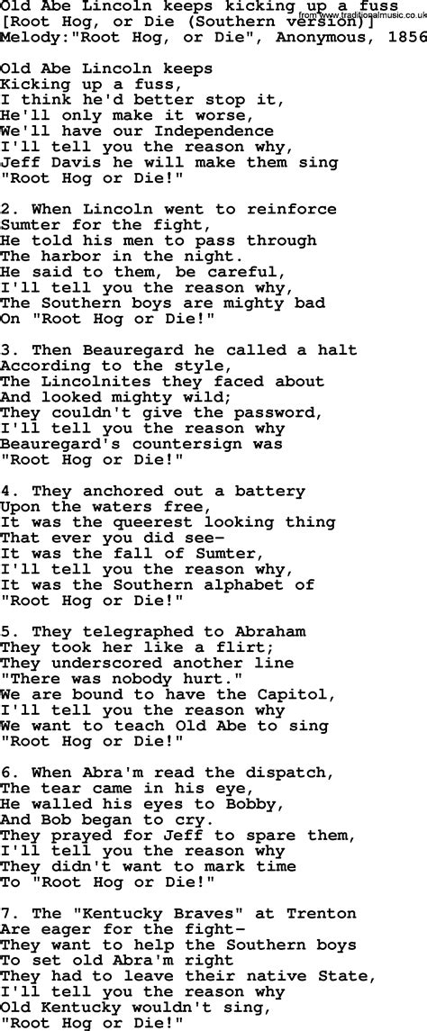 songs about lincoln american song lyrics for abe lincoln keeps