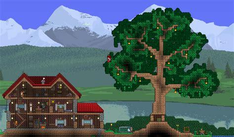 Small house with garden : Terraria