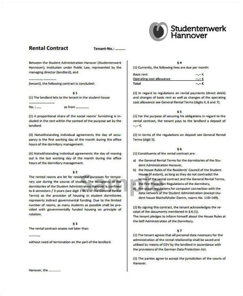 student contract template 10 student contract sles templates pdf doc