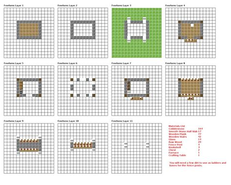minecraft house blueprints layer by layer 07 minecraft