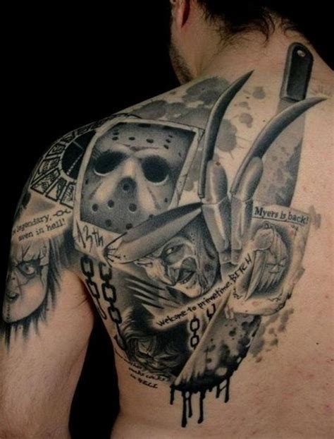 horror movie tattoo designs scary tattoos for horror designs