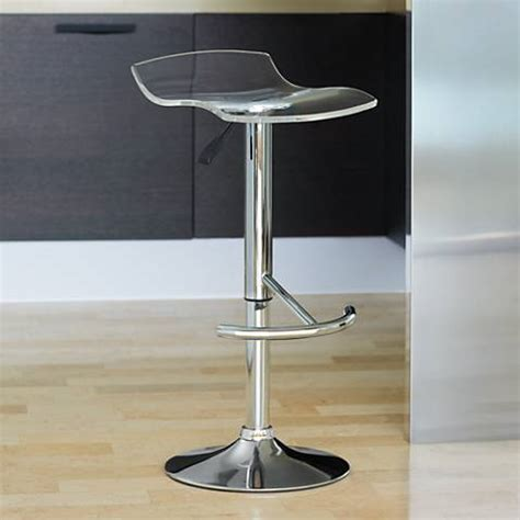 Acrylic Adjustable Bar Stools by California Clear Acrylic Adjustable Swivel Bar Stool