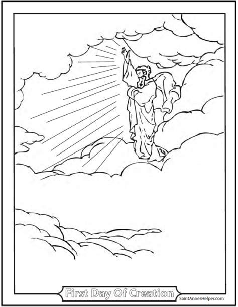 first day creation coloring pages 45 bible story coloring pages creation jesus mary