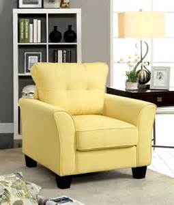 yellow living room set claire yellow fabric living room set from furniture of america cm6266yw sf coleman furniture